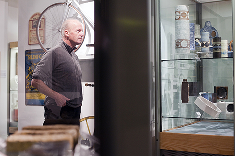 UK - Cornwall - Author Jim Crace at the Penlee House Gallery